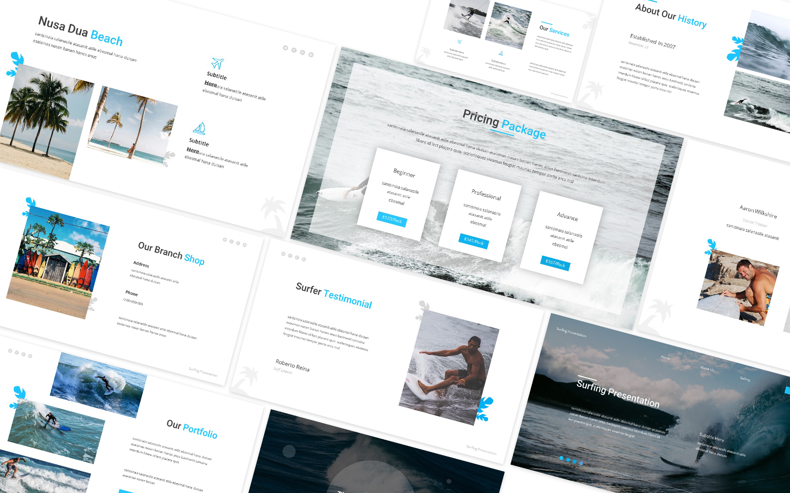Surfing 2 Powerpoint Template