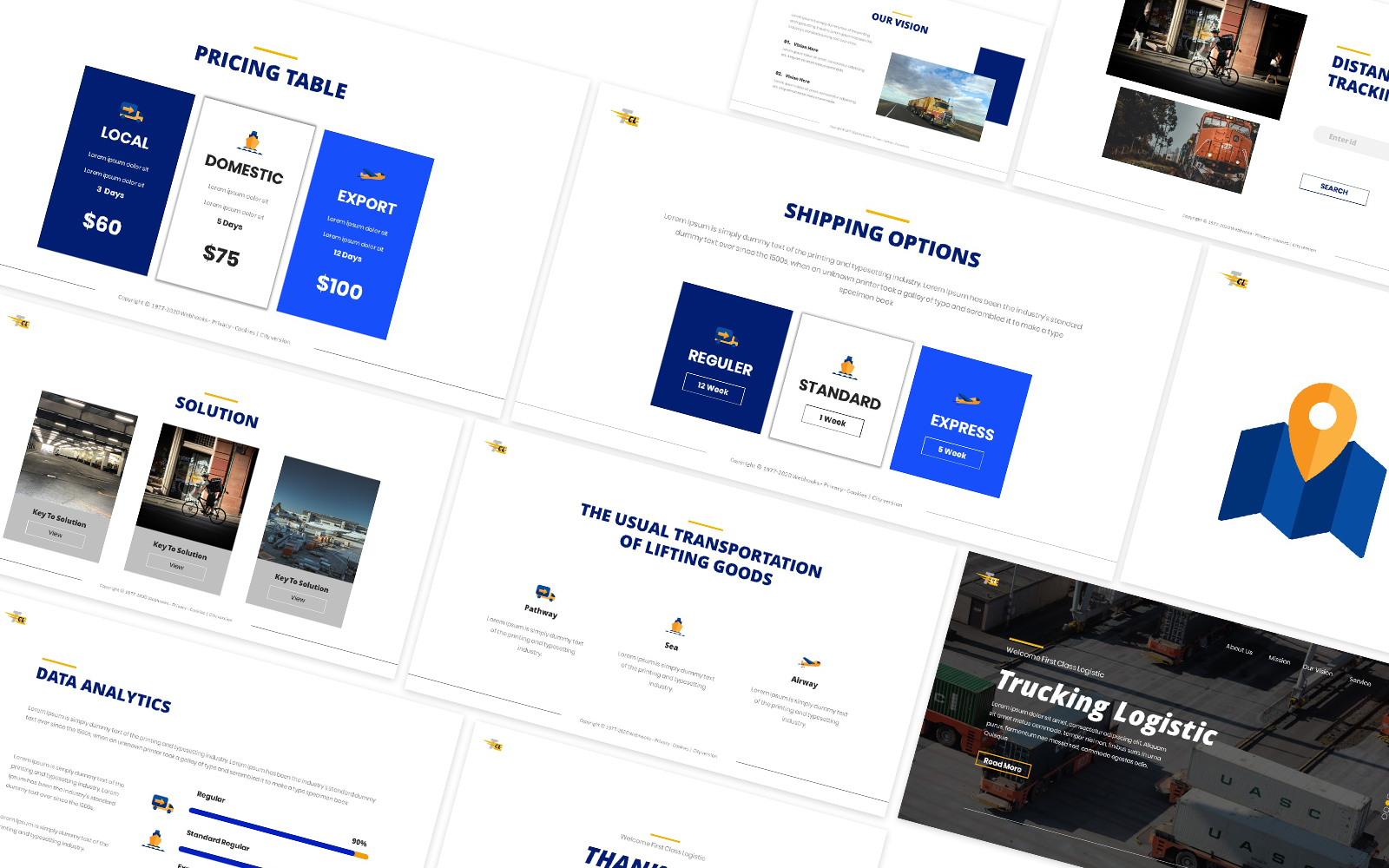Traking Logistic Powerpoint Template