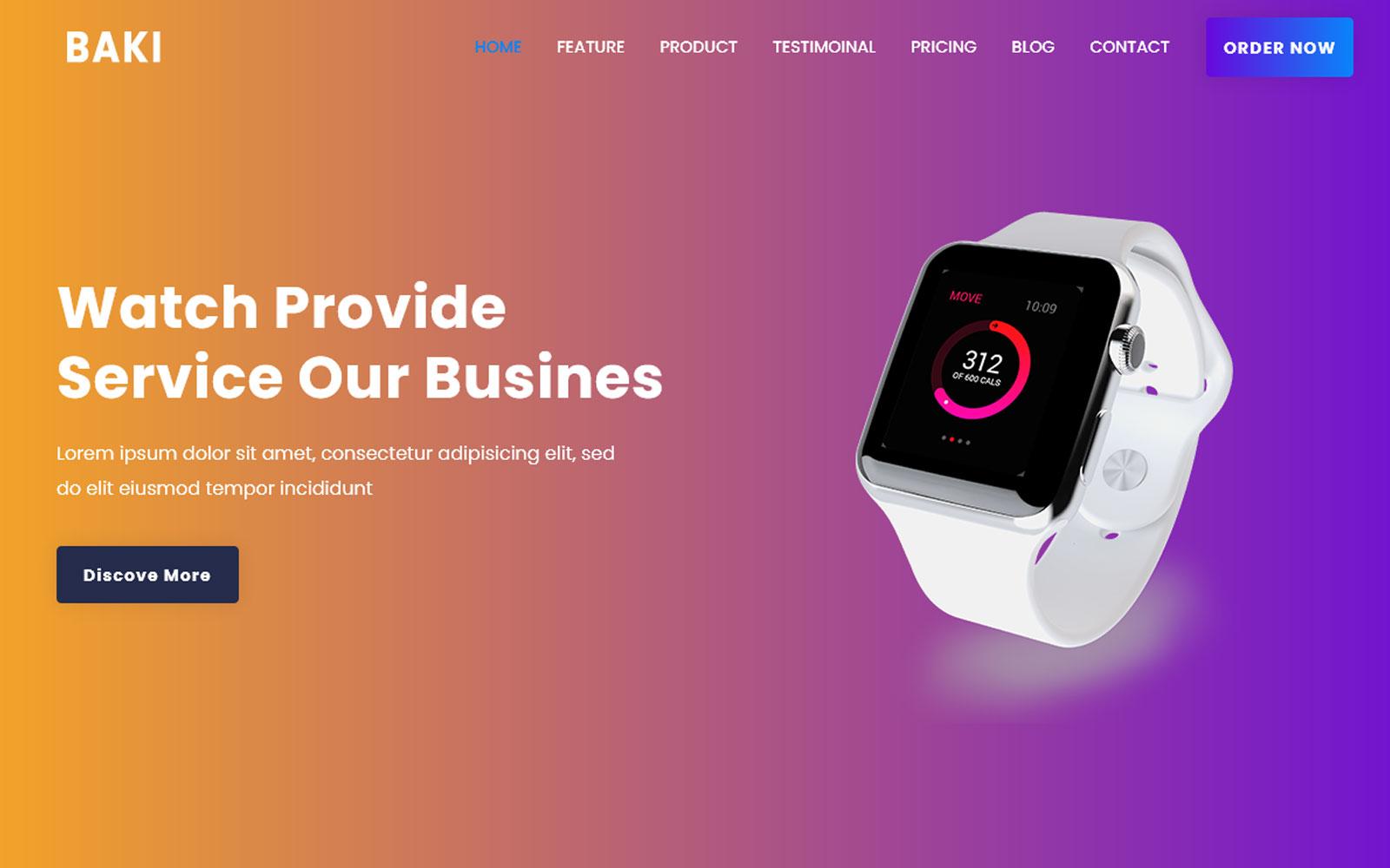 Baki Product Landing Page Theme