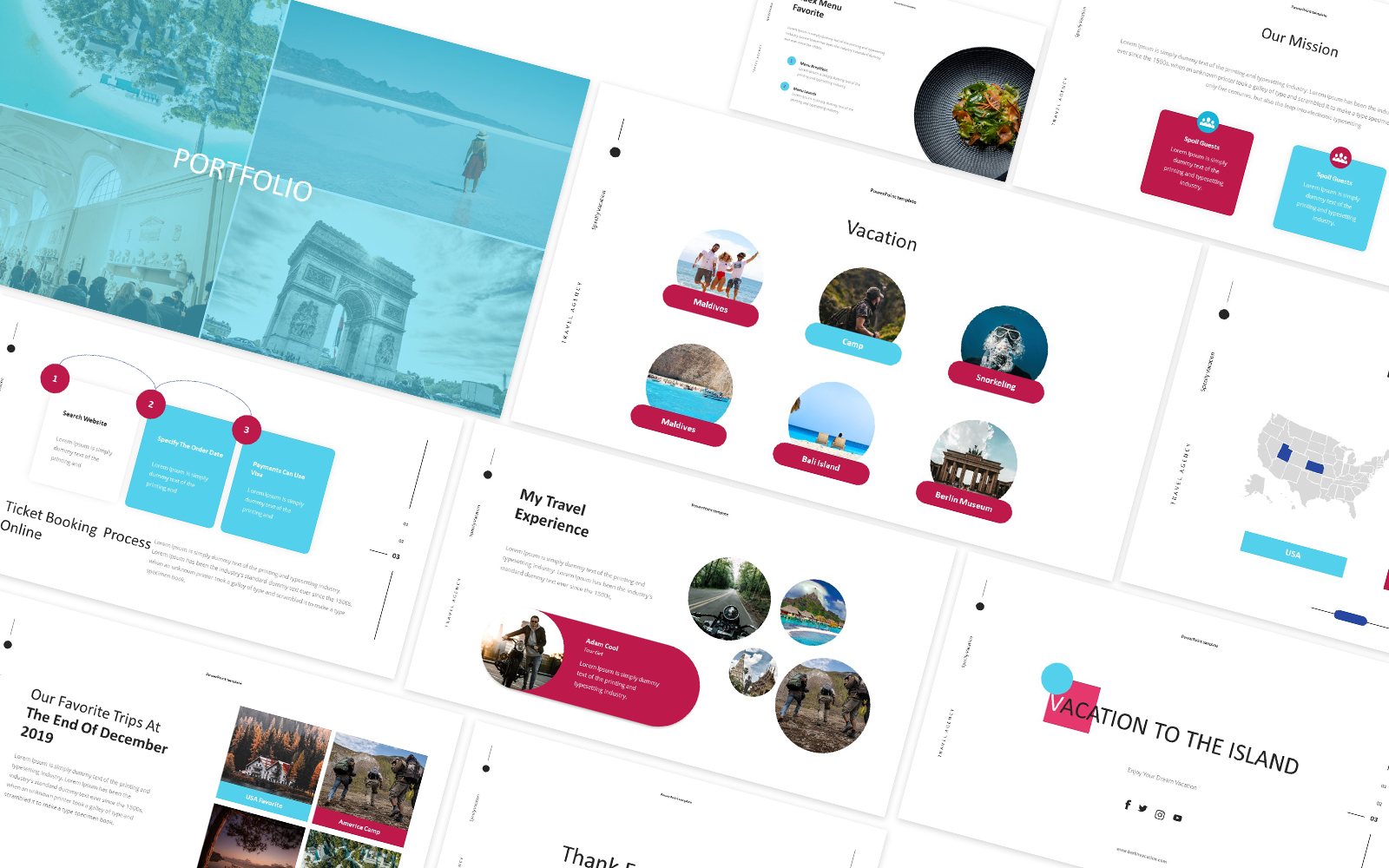 Vocation Travel Powerpoint Template