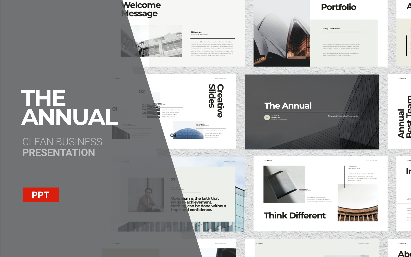 The Annual - Business Presentation - Powerpoint Template