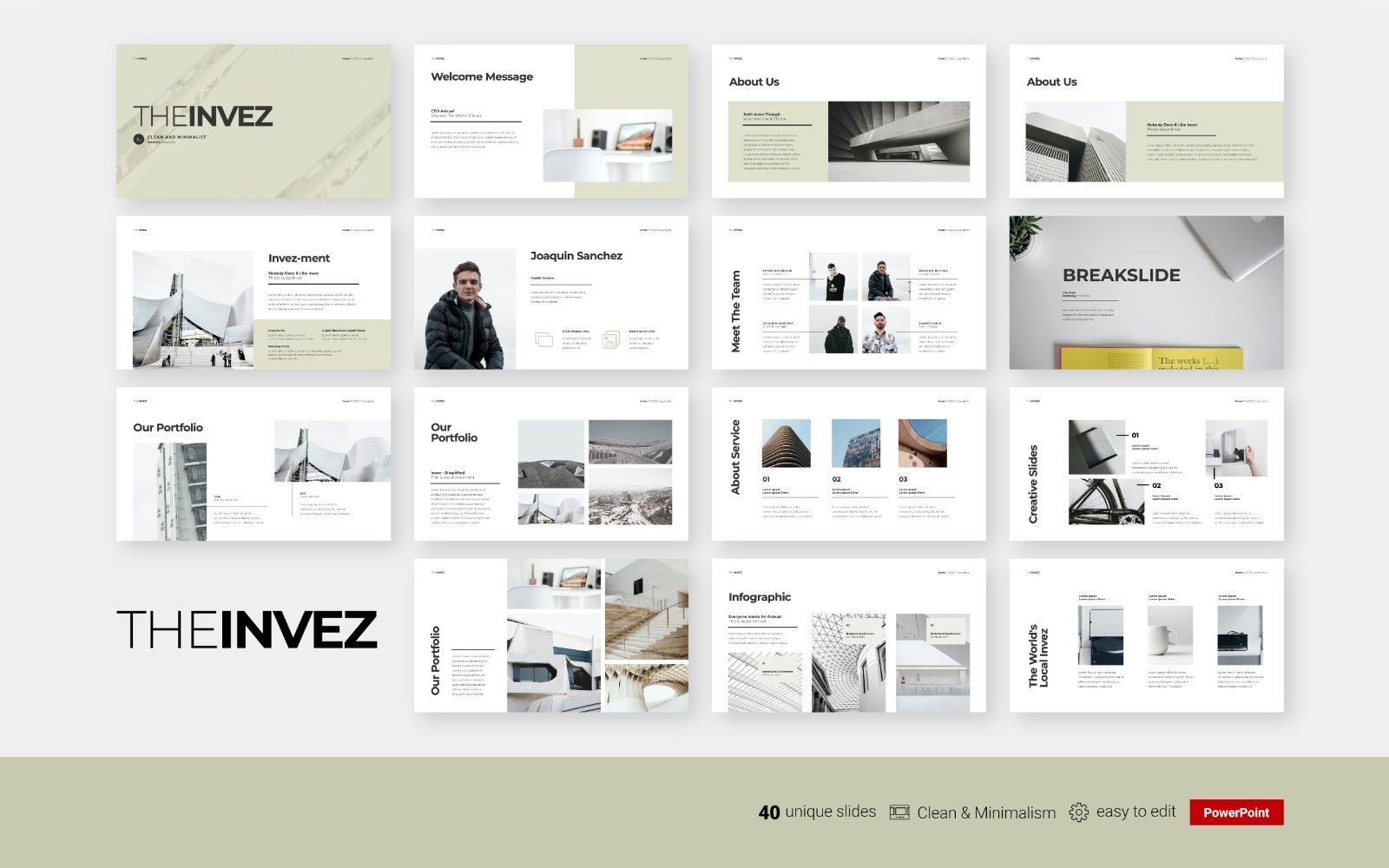 The Invez - Clean Business Presentation - Powerpoint Template