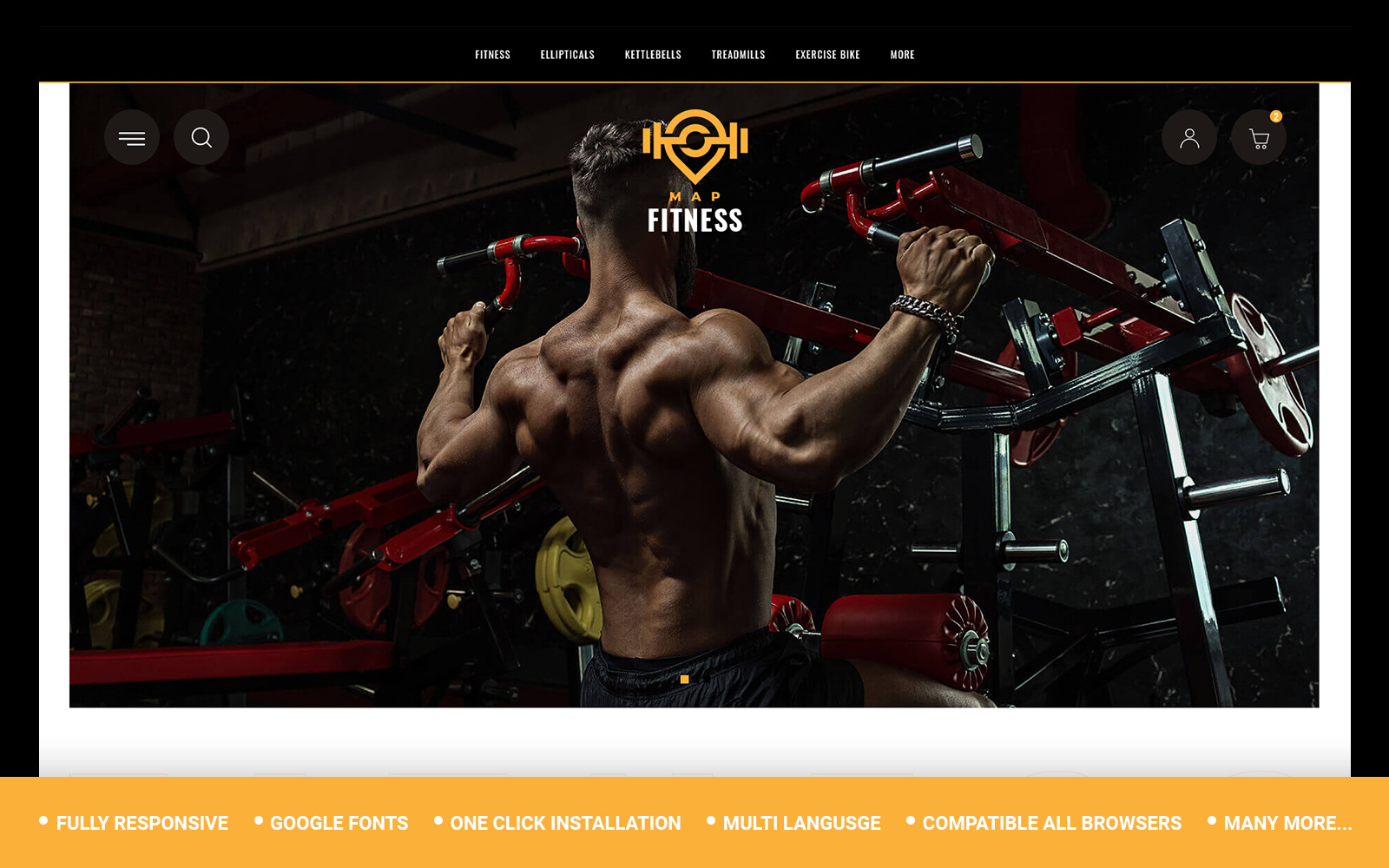 Fitness - Gym Store Opencart Template