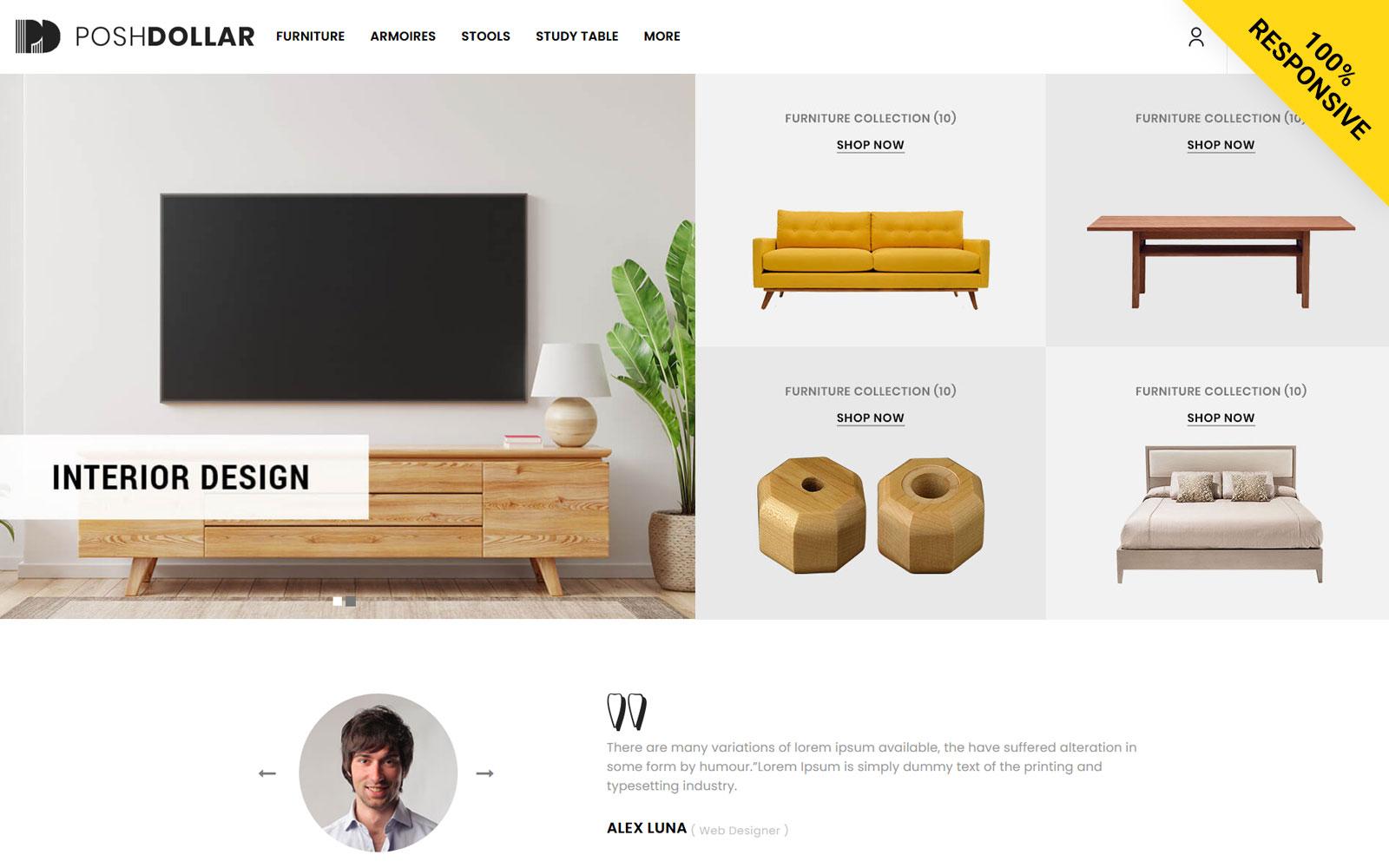 Poshdollar - Furniture Store Opencart Template