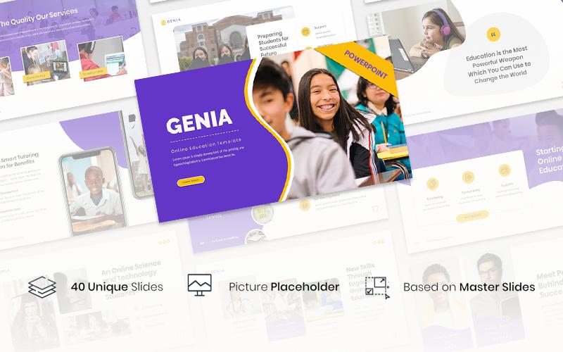 Genia – Online Education PowerPoint Template