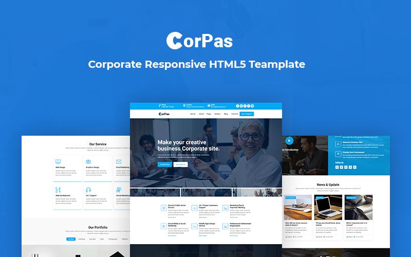 Corpas - Corporate Responsive Website Template