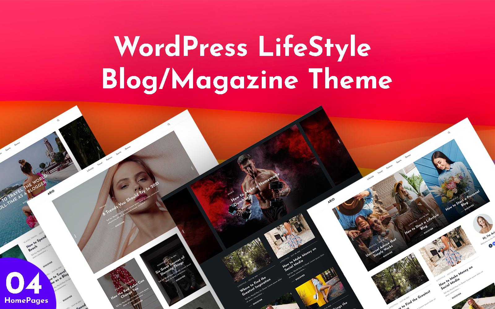 Ario - Blog & Magazine WordPress Theme