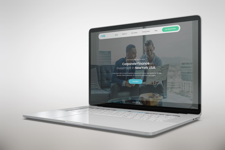 Ajim   Corporate Finance HTML5 Landing Page Template