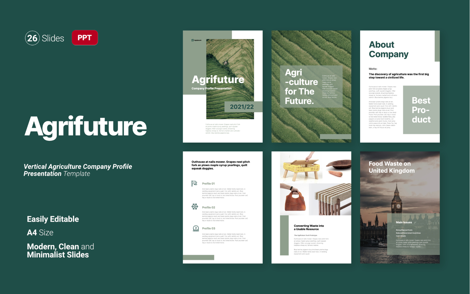 Agrifuture - Vertical Powerpoint Template