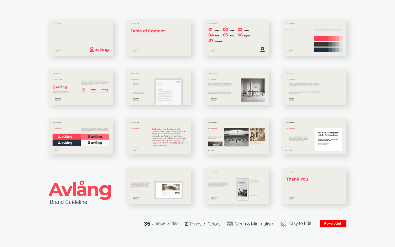 Avlang - Brand Guidelines Presentation - Powerpoint Template