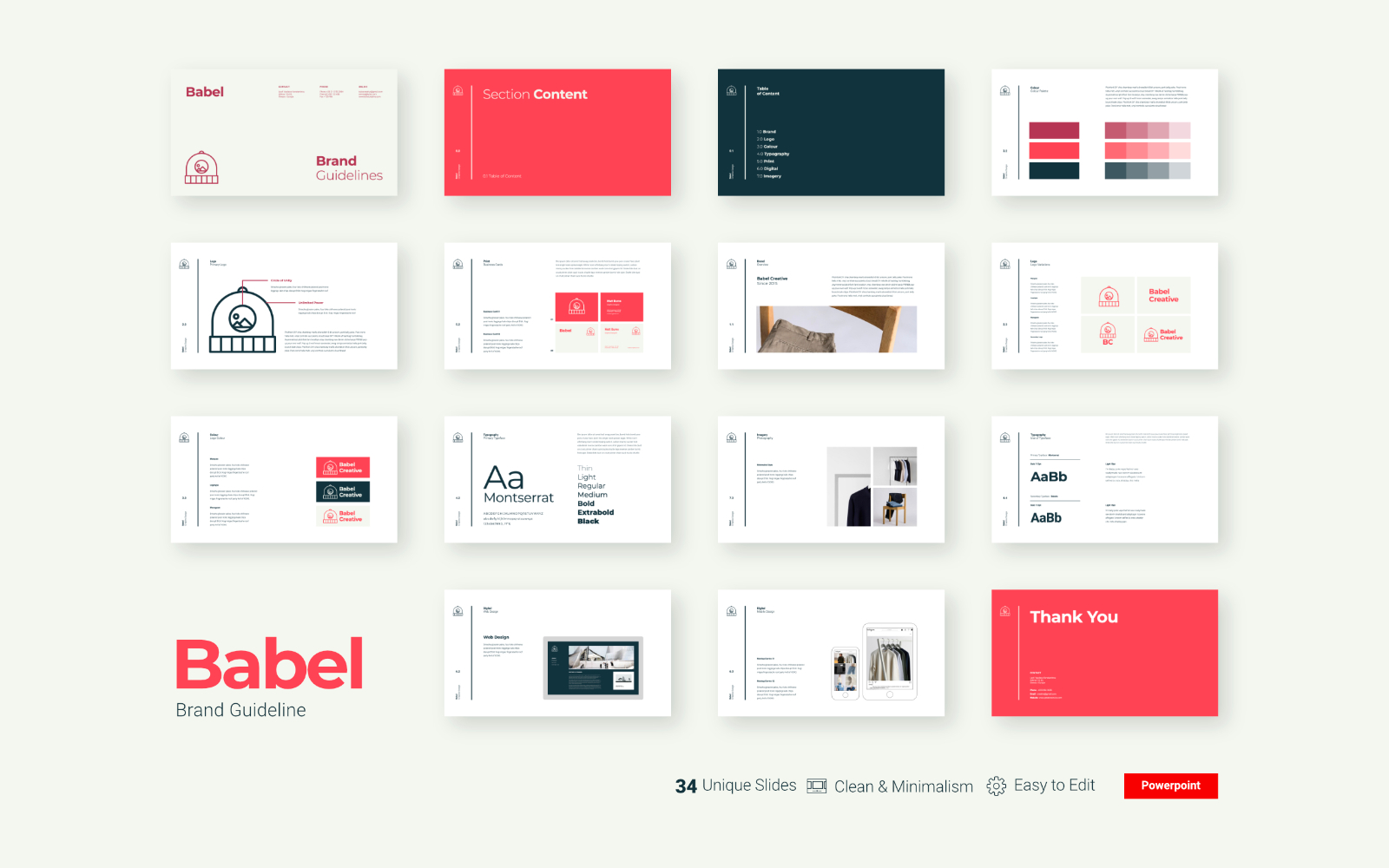 Babel - Brand Guidelines Presentation - Powerpoint Template