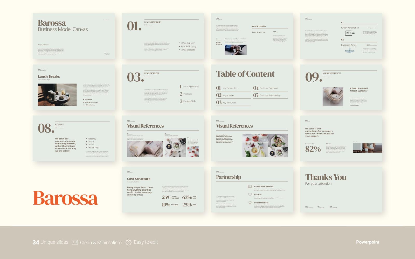 Barossa - Business Presentation - Powerpoint Template