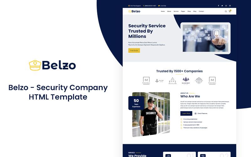 Belzo - Security Company HTML5 Responsive Template