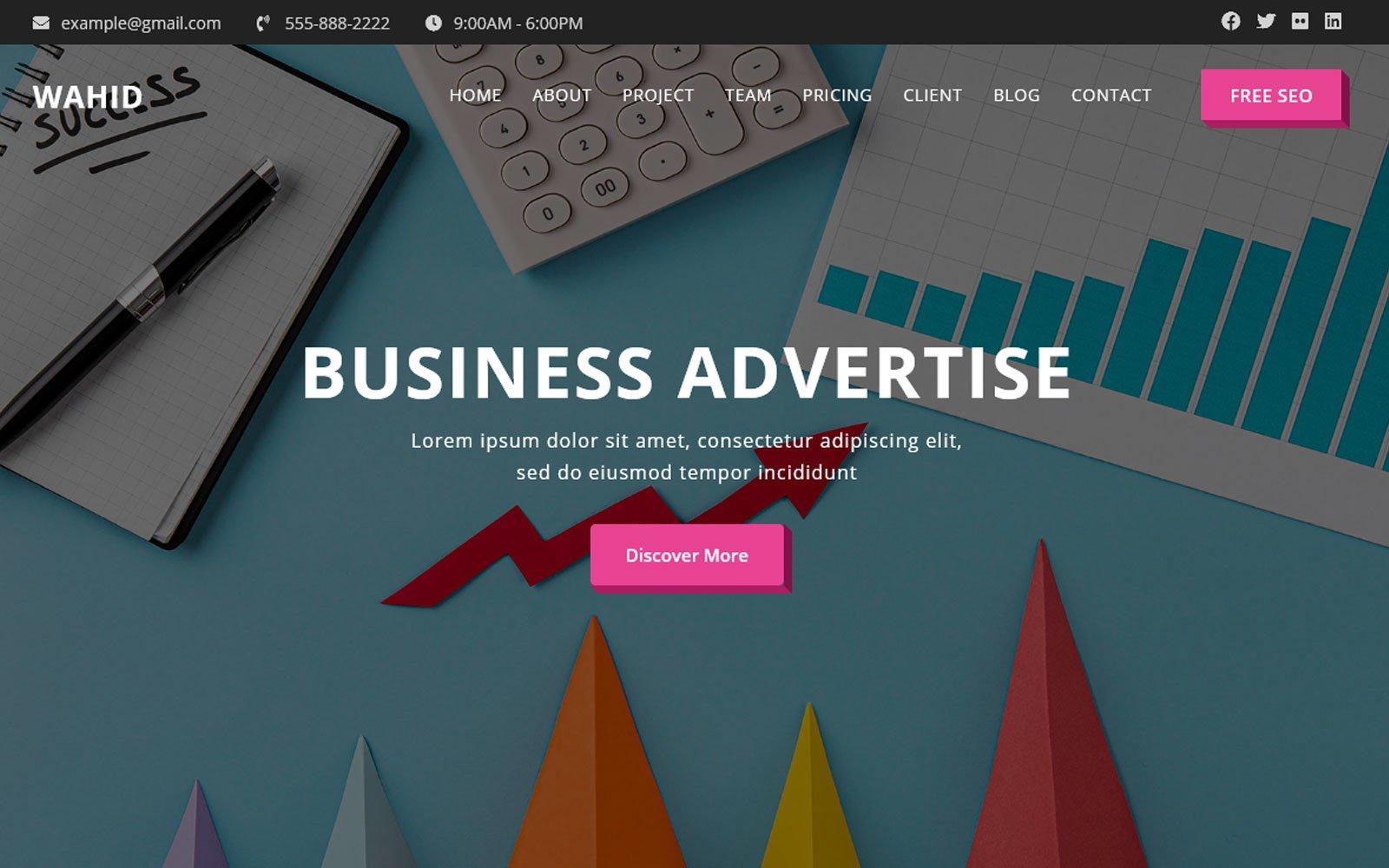 Wahid - Advertising Html5 Landing Page Theme