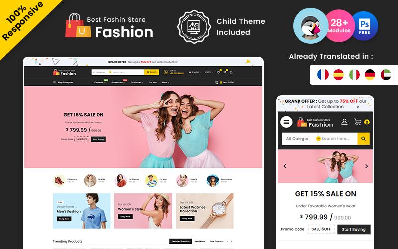 Fashion – Beauty & Fashion Multipurpose PrestaShop Theme