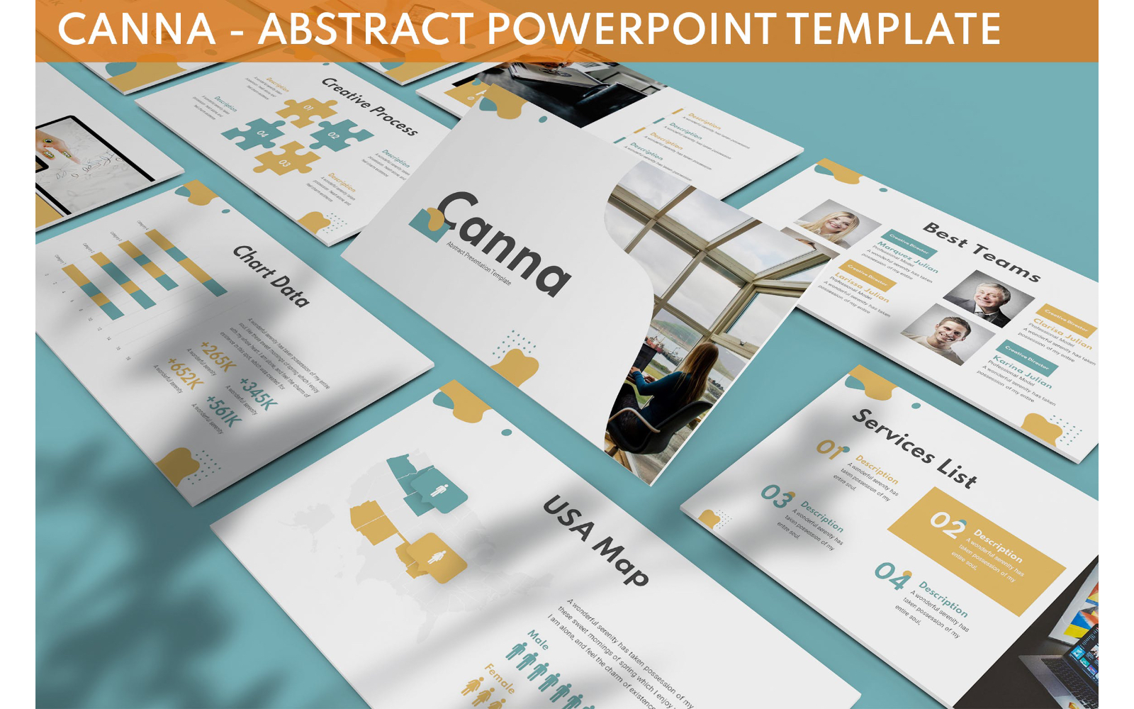 Canna - Abstract Powerpoint Template