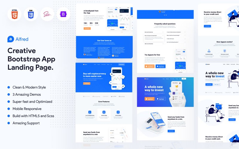 Alfred - Startup, App Showcase, Technology & Software Website Template