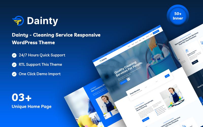 Dainty - Cleaning Service Responsive WordPress Theme