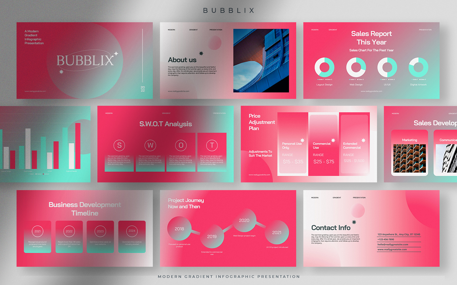Bubblix - Cotton Candy Modern Gradient Infographic Presentation