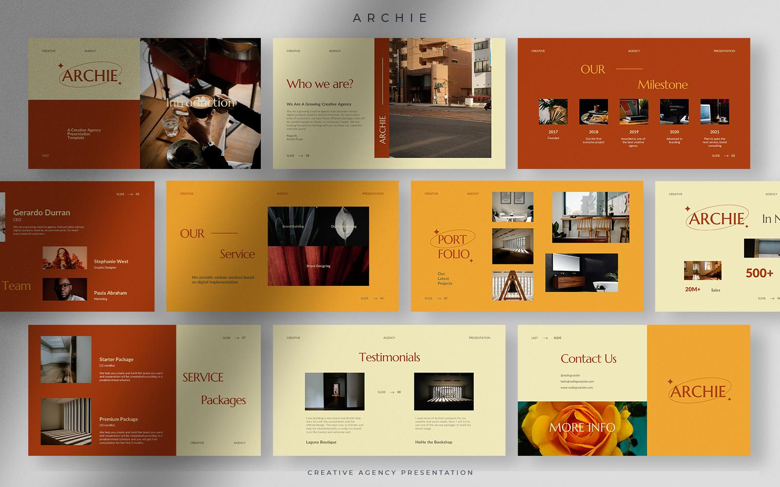 Archie - Warm Autumn Creative Agency Presentation