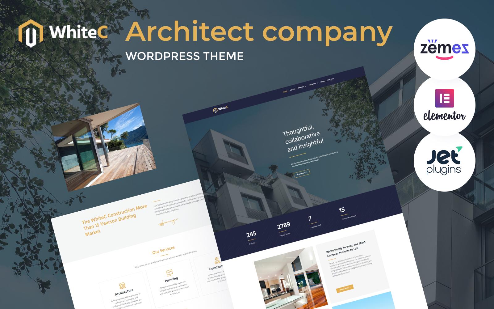 WhiteC - WordPress Elementor Architect Theme