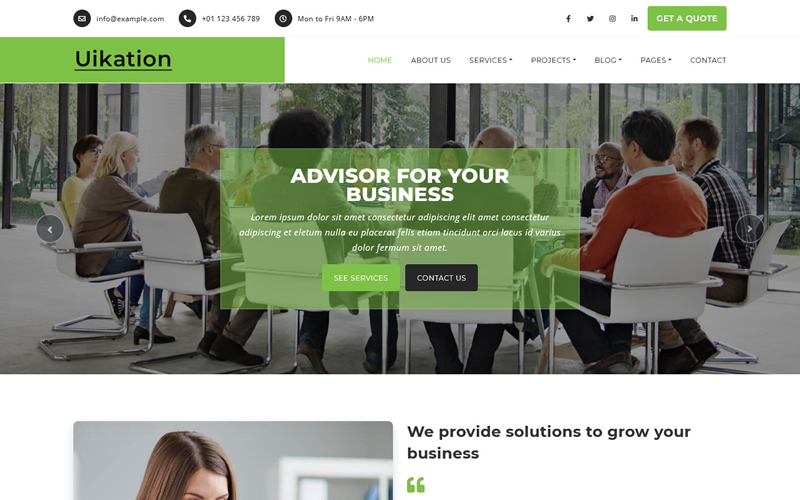 Uikation - Multipurpose HTML5 Website Template