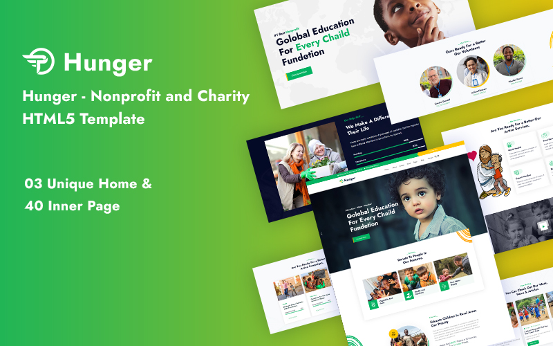 Hunger - Nonprofit and Charity Responsive Website Template