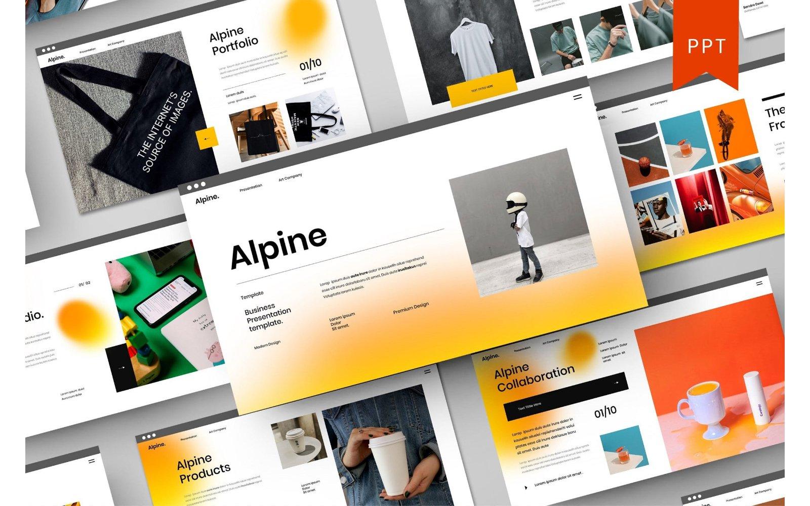 Alpine – Business PowerPoint Template