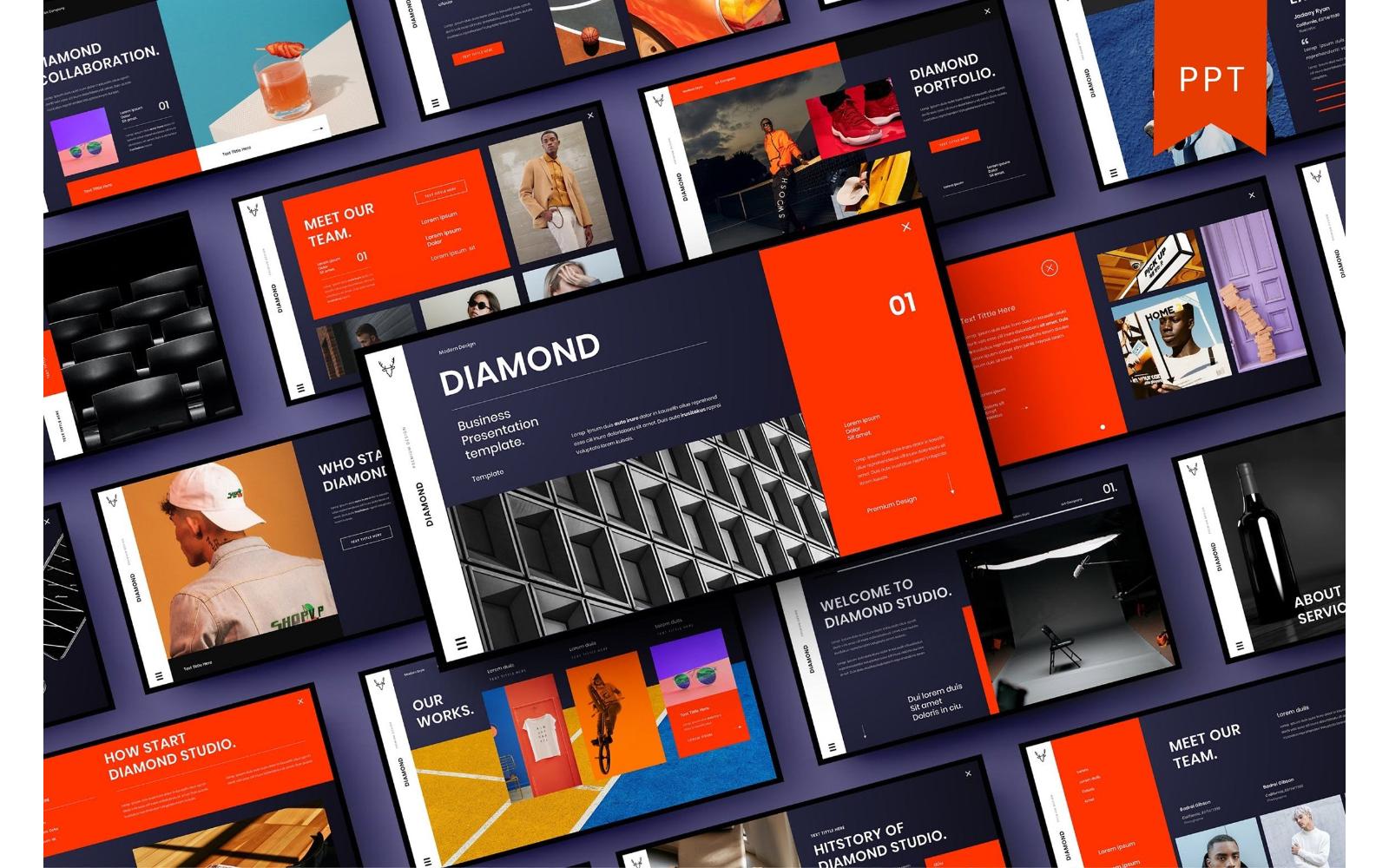 Diamond – Business PowerPoint Template