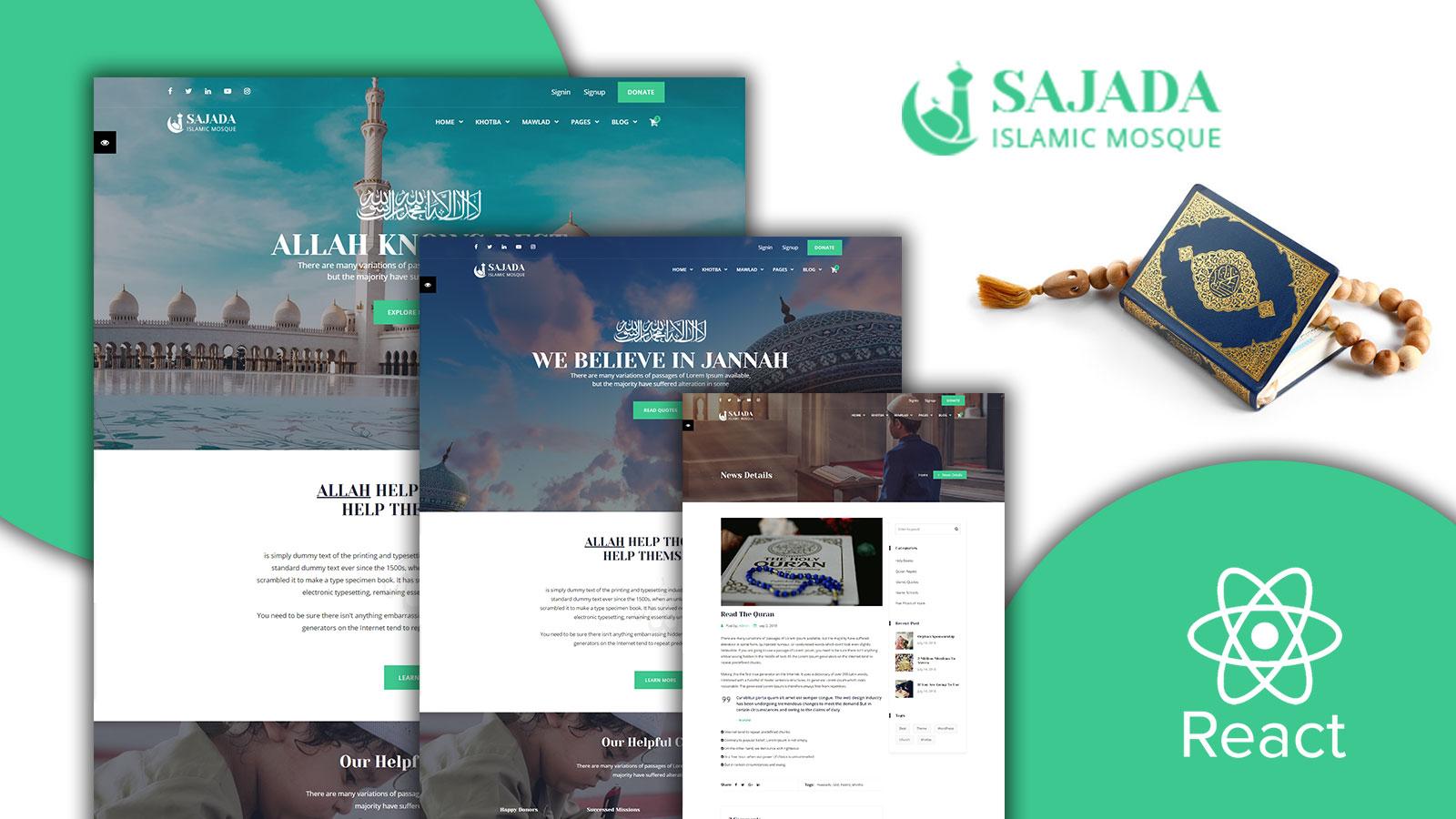 Sajdah - Mosque React Template