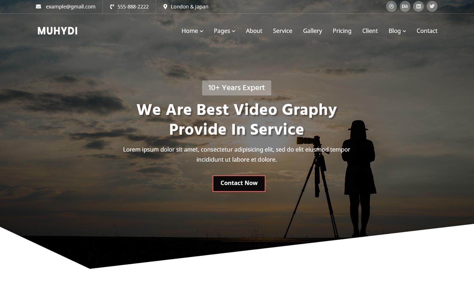 Muydi - Videography Website Template