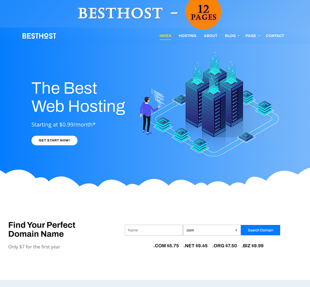 BestHost - Responsive Hosting HTML Template