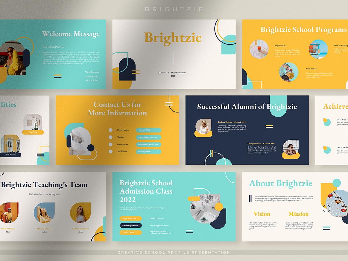 Brightzie - Cheerful Creative School Profile Presentation