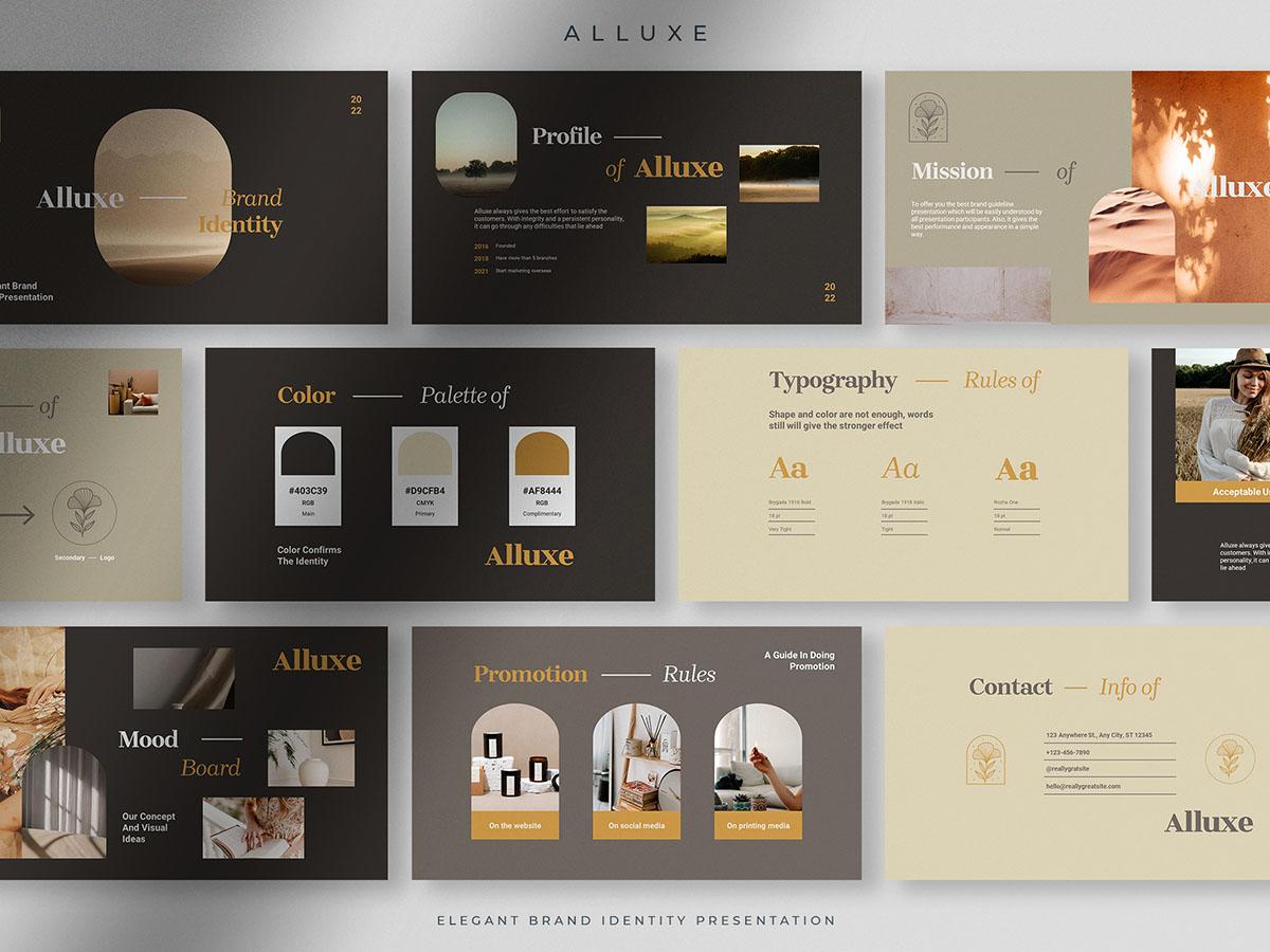 Alluxe - Bold Elegant Brand Identity Presentation