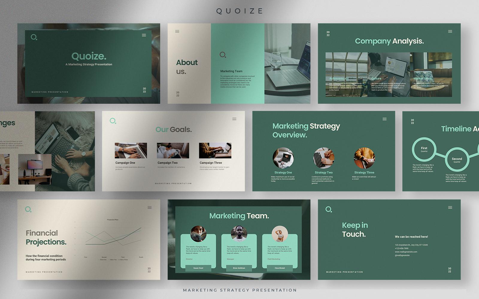 Quoize - Green Lake Marketing Strategy Presentation