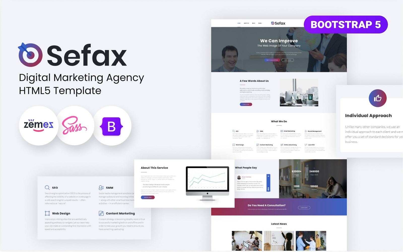 Sefax - SEO & Digital Marketing HTML5 Template