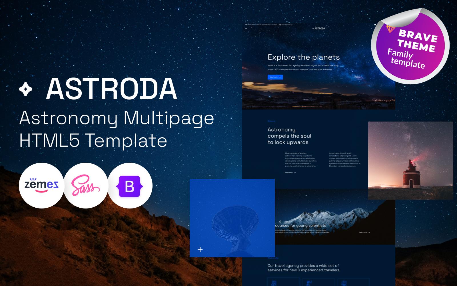 Astroda - Astronomy HTML5 Template