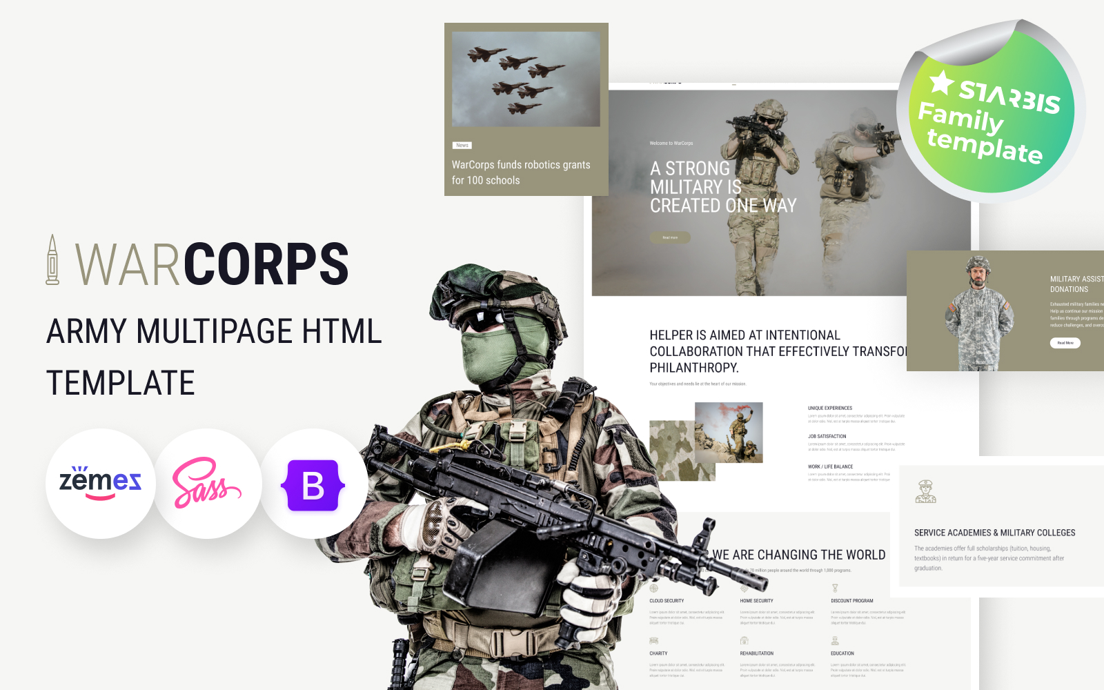 WarCorps - Military Service & Army HTML5 Template