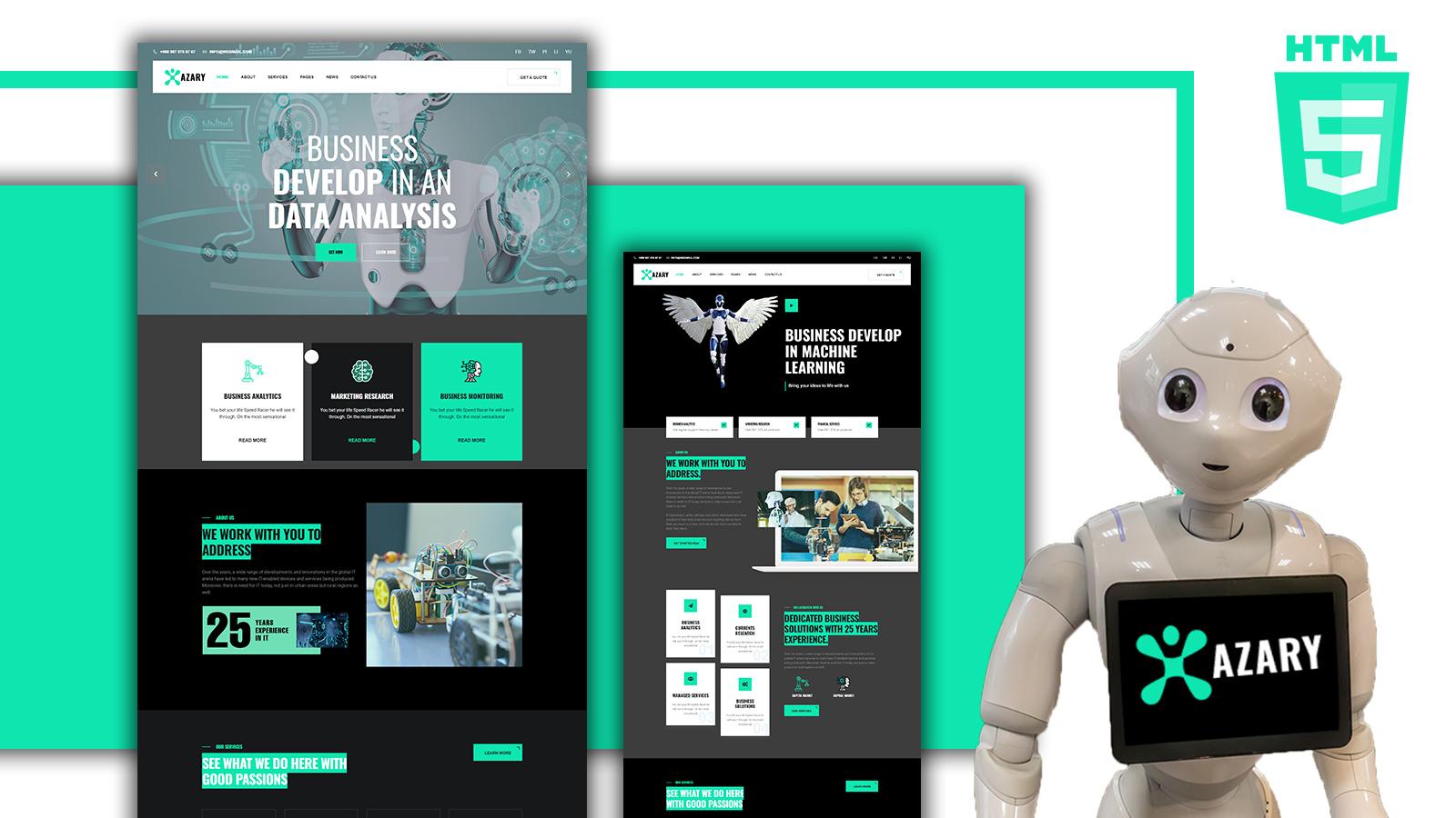 Azary- Robot and AI Angular template