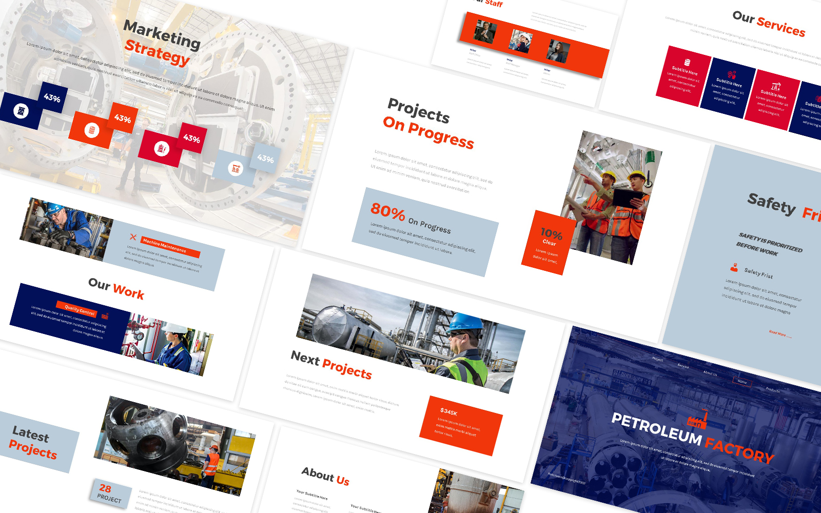 Petroleoum Factory Powerpoint Template