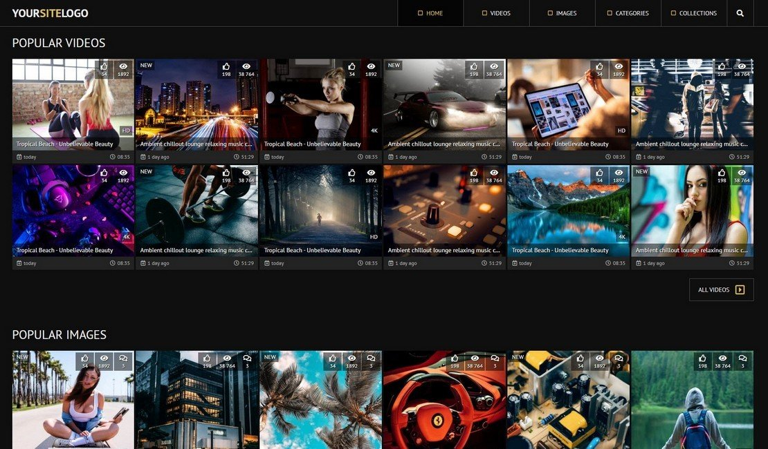 SX 3 - Video and Photo Gallery Website Template