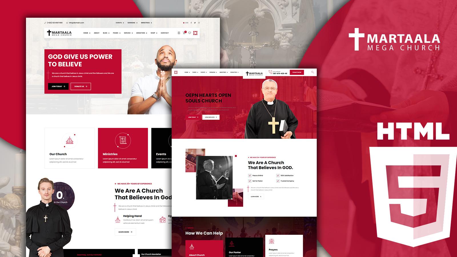 Martalaa Church and Non Profit HTML5 Website Template