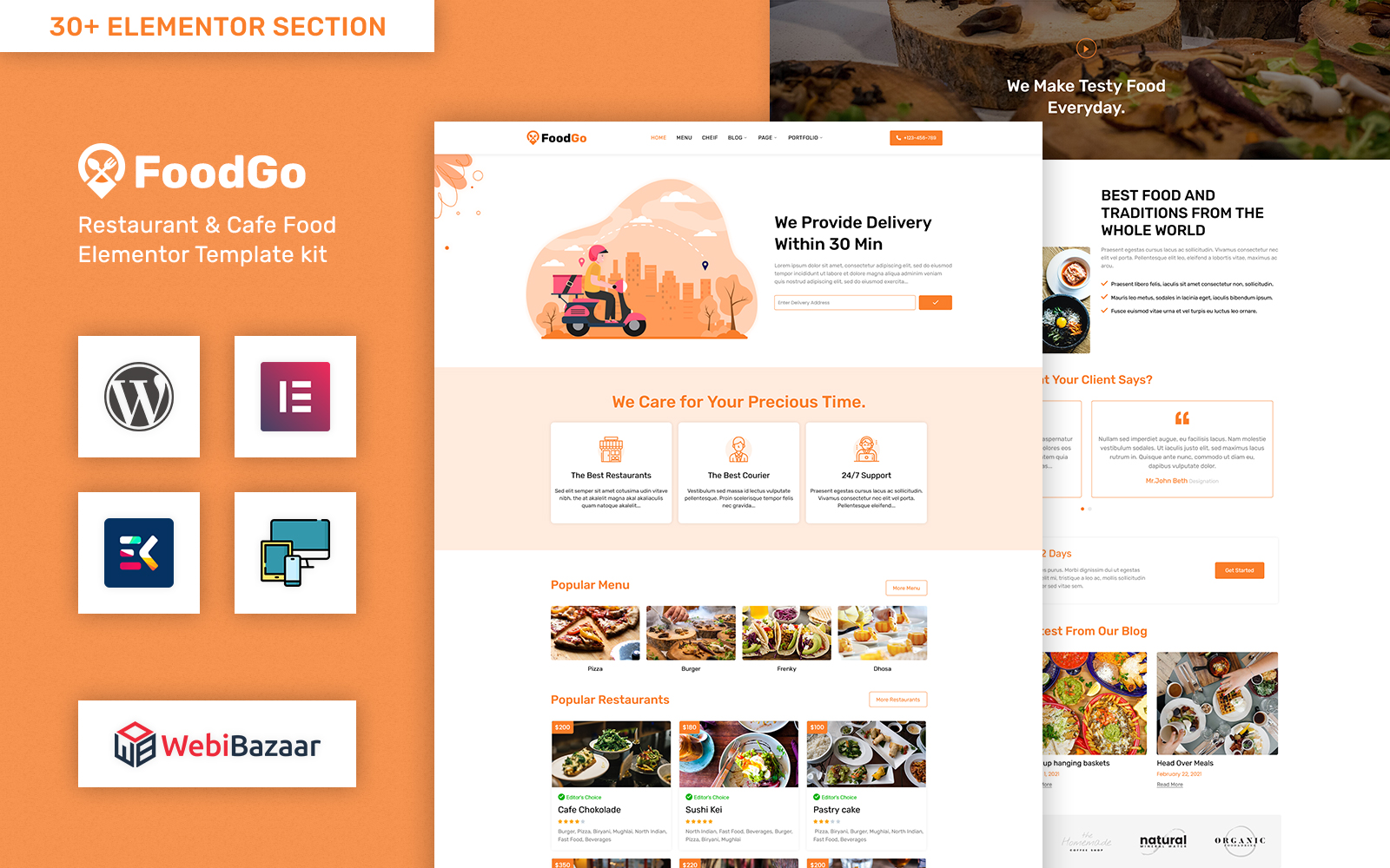 FoodGo - Food & Grocery Local Business Delivery WordPress Theme