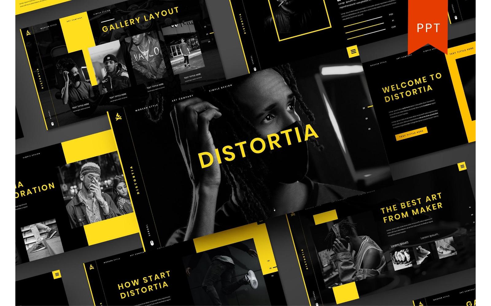Distortia – Business PowerPoint Template