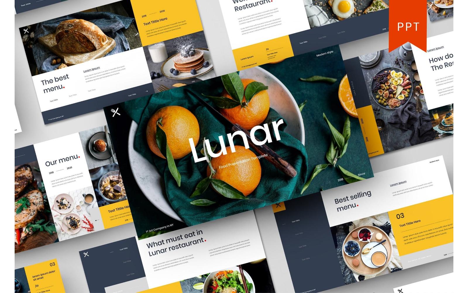 Lunar – Food Business PowerPoint Template