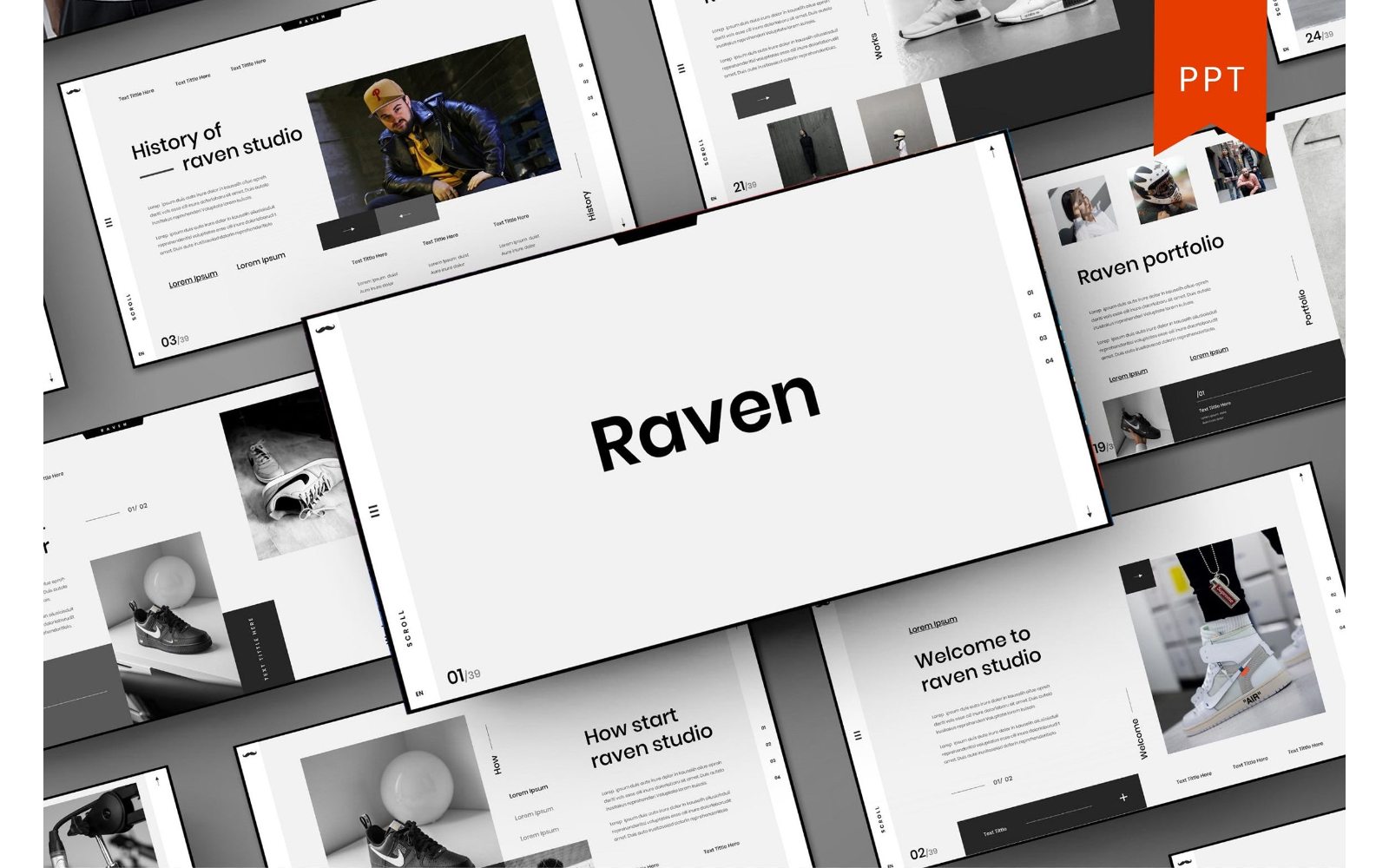Raven – Business PowerPoint Template