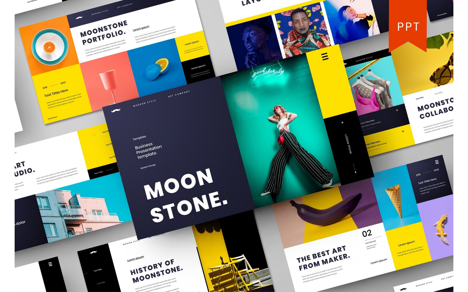 Moonstone – Business PowerPoint Template