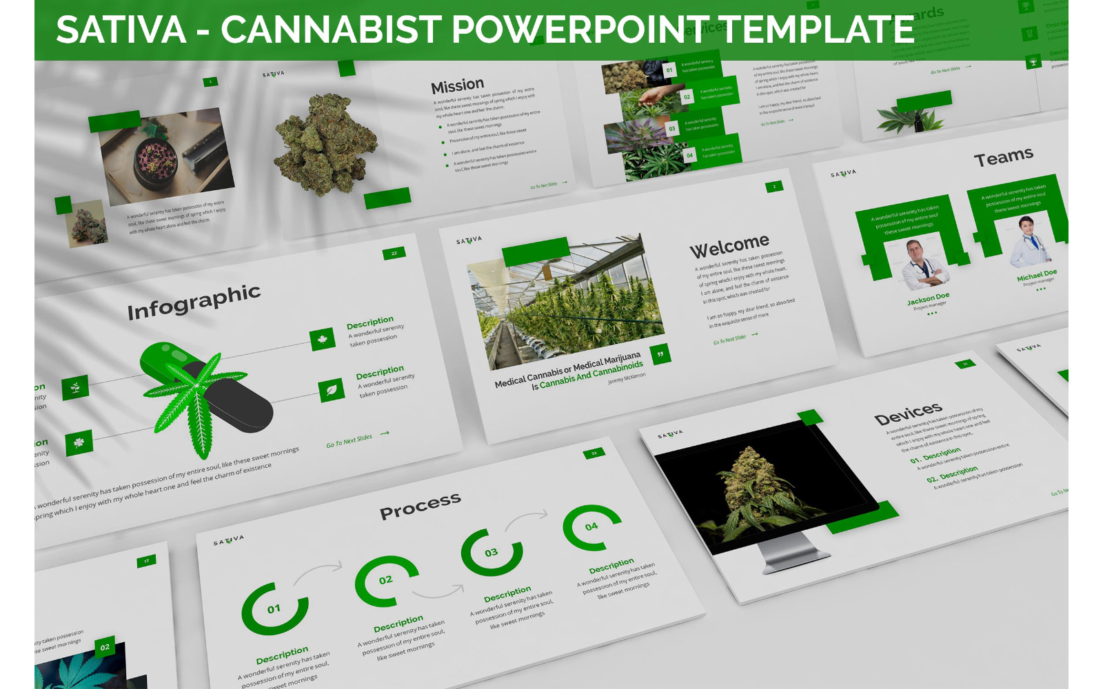 Sativa - Cannabist Powerpoint Template