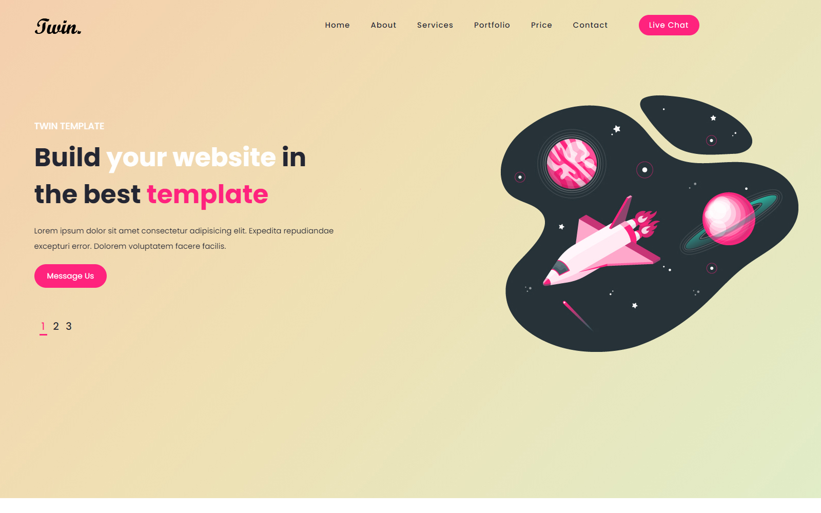 Twin - Landing HTML Template Solution