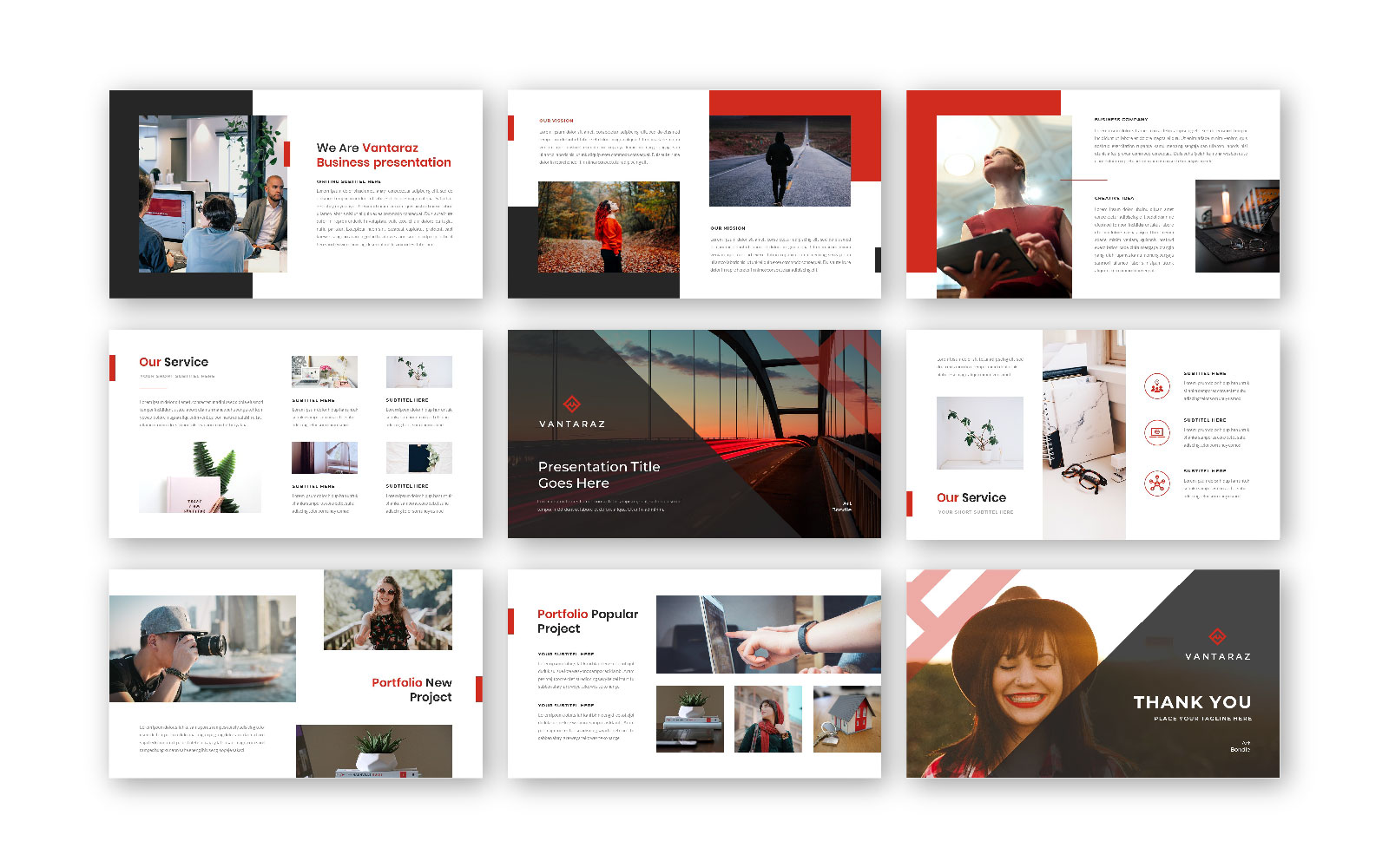 Vantaraz – Creative Business PowerPoint Template